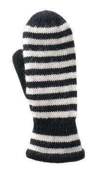 Gaucho Striped Mitt Black/White