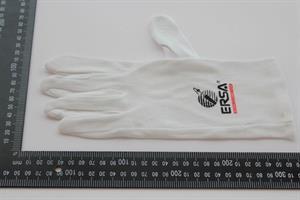 Cotton gloves white, size L
