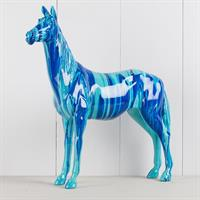 Häst, blå nyanser, poly