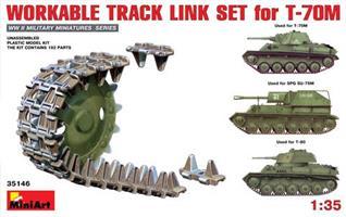 WORKABLE TRACK LINK SET for T-70