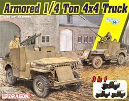 Armored 1/4-Ton 4x4 Truck w/.50-cal Machine Gun