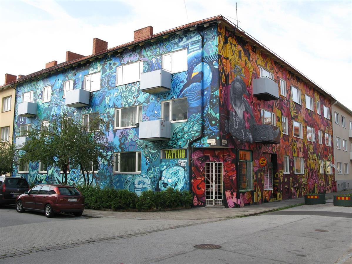 Whole-house 2014 tillsammans med vänner, på Sofiagatan/Rasmusgatan, Seved, Malmö. Whole-house together with friends 2014 at Sofiagatan/Rasmusgatan, Seved, Malmö.