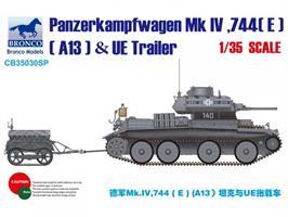 Panzerkampfwagen Mk IV, 744(E) (A13) & UE Trailer