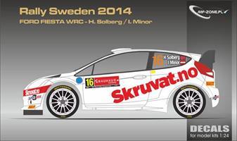 Ford Fiesta Rs Wrc Solberg Sweden 2014