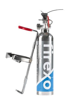Firexo mini -levereras med robust hållare.