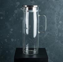 Tillbringare, glas/RF stål, 1,2L