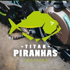 X-GRIP TITAN PIRANHAS FOOTPEGS