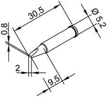 Tip Ersadur 2,0mm Chisel shape