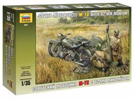 Soviet Motorcycle M-72 w/Mortar