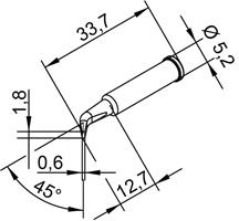 Tip Ersadur 1,8mm Pencil point