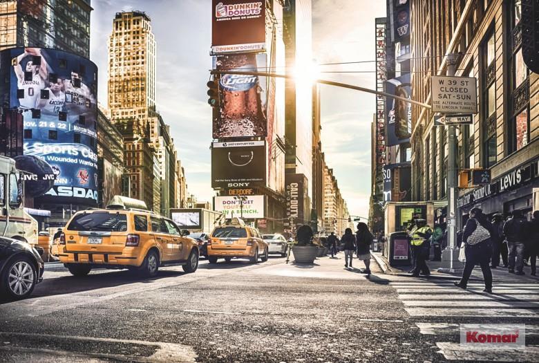 Komar fototapet Times Square Fiber bakside