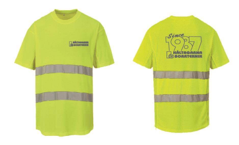 Varsel T-shirt med reflextryck