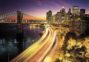 Komar fototapet NYC Lights Fiber bakside