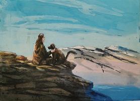 Kristian finborud - Hund og henne i fjellet