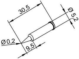 Tip Ersadur 0,2mm pencil point