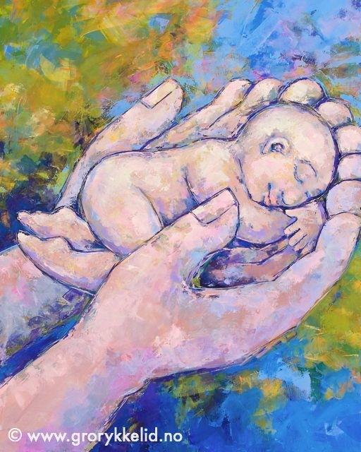 A human being…, Orginalmaleri m ramme