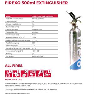 Firexo 0,5 l brandsläckare