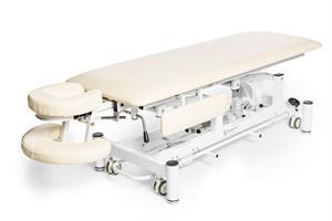 Elektrisk massagebänk Deckams, cream