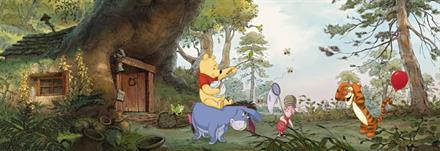 Komar fototapet Disney Poohs House