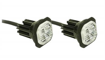LED riktat varningsljus inb. gul diod (par)