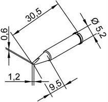 Tip Ersadur 1,2mm chisel shape