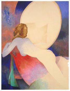 Claude Gaveau-Myriam au miroir