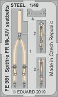 Spitfire FR Mk.XIV seatbelts STEEL Airfix 1:48