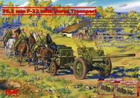 76,2 mm F-22 With horse transport