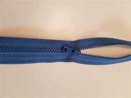 Glidelås delbar, blå 40 cm