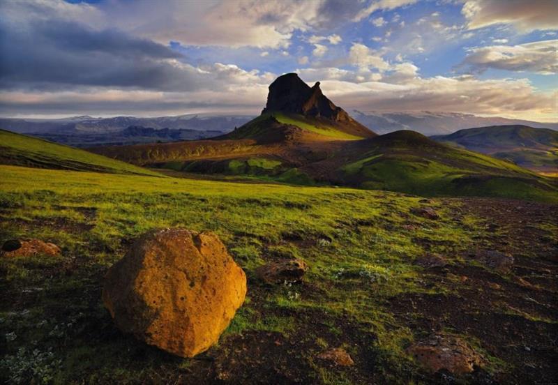 Komar fototapet Iceland