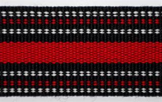 Herrebånd - Svart, hvit og rød