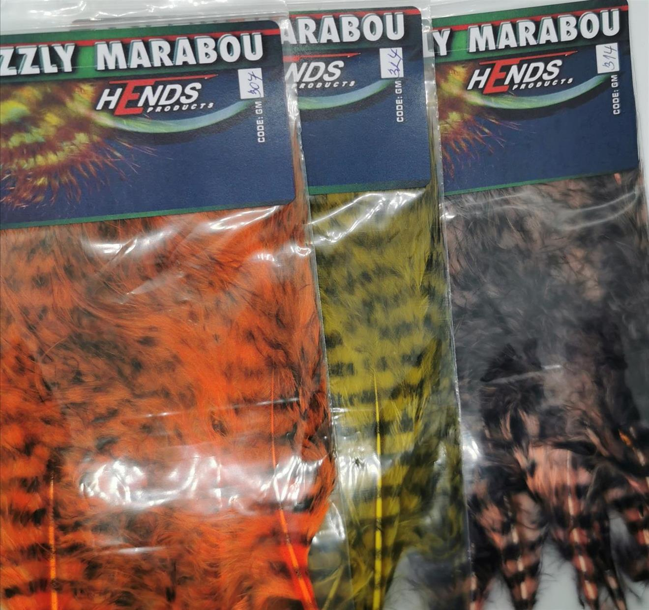 Hends Grizzly Marabou Orange / Black