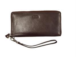 House plånbok med dragkedja Brun
