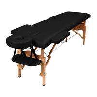 Massagebänk i trä, svart
