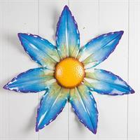 Blomma, blå, att hänga, metall