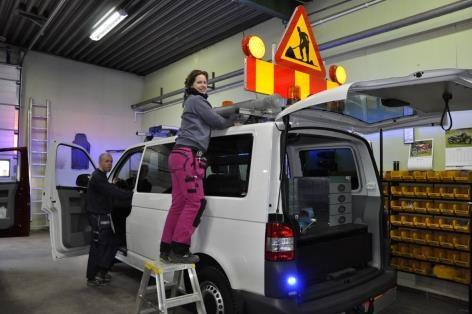 Typisk bilutrustning hos Liljas Bilinredningar AB