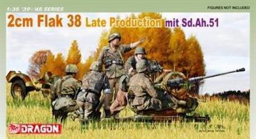2 cm FlaK 38 Late Production mit Sd.Ah.51