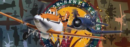 Komar fototapet Disney Plains Squadron