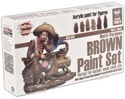 Brown Paint Set
