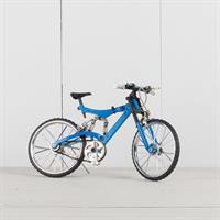 Mountainbike blå, rörliga funktioner, metall