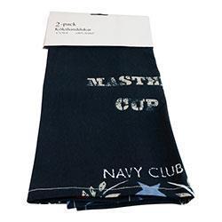 Kökshandduk 2-pack Blå Navy