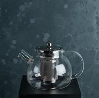 Thekanna, glas/RF stål, 0,9L