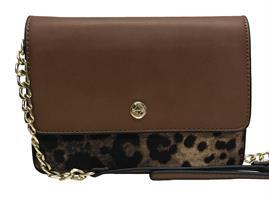 Ulrika Väska Box Leopard BRUN
