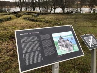 Hänvisningsskylt från Svartsjö slott Färingsö
