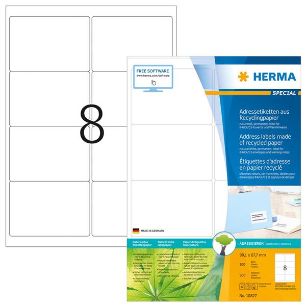 ETIKETT, HERMA A2P 99,1x67,7