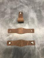 Liza läderhandtag oval antikbrun
