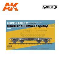 German Railway Schwerer Plattforwagon Type Ssys