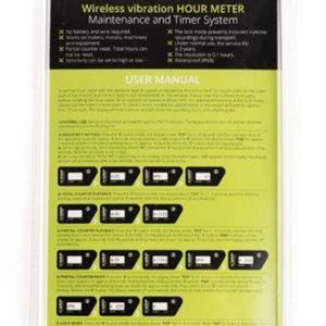 Vibration hour meter