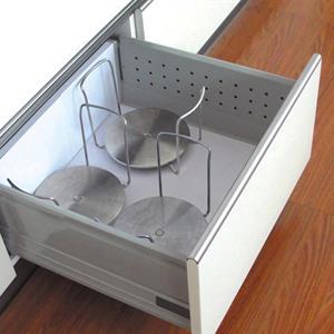 Tallrikshållare för låda, rostfri
