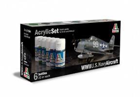 Acrylmaling Set. 6 stk. US Navy Aircraft